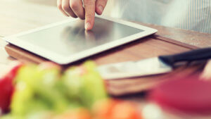 Using iPad for Cooking