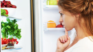 Woman Picking Healthy Food